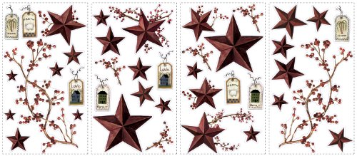 RoomMates RMK1276SCS Country Stars and Berries Peel & Stick Wall ...