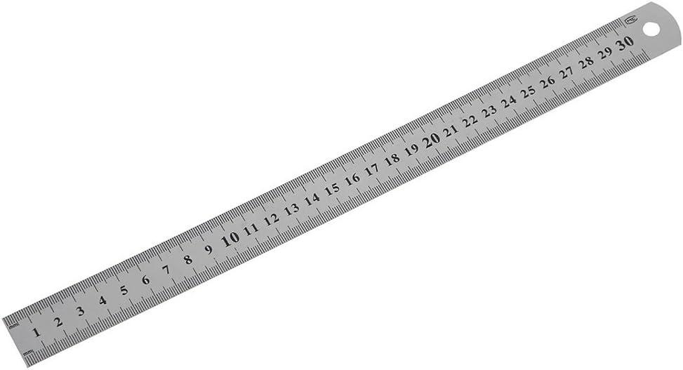 Verschlei/ßschutz doppelseitiges Metallma/ß Edelstahl-Lineal Schreibzubeh/ör f/ür B/üro und Shcool 20 cm