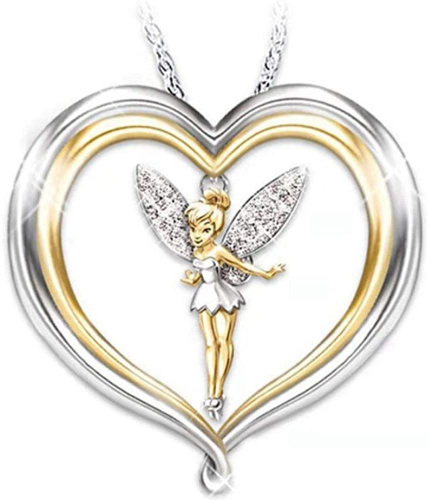 Necklaces,Jewelry,Personalized Fairy Elf Necklace Fashion Creative Color Separation Female Pendant Cute Women Jewelry Party Accessories