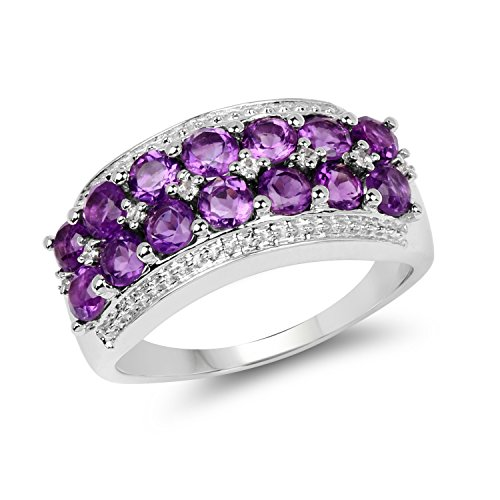 Amethyst .925 Sterling Silver Double Row...