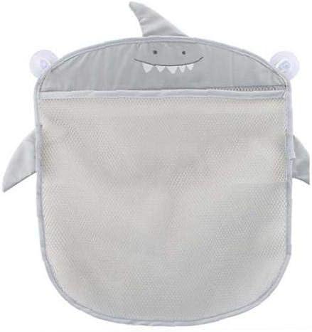 Bath Toy Organizer Cute Bathroom Toy Storage Net Bag Multifunction Bathroom Hanging Bag for Baby Toys Gray
