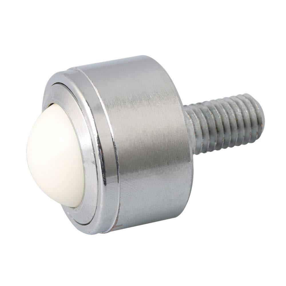 BQLZR 15mm Diameter Ball Metal Transfer Bearing Unit Heavy Duty Machined Steel Roller Silver