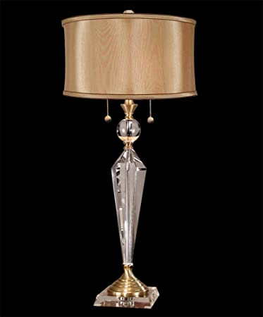Dale Tiffany GT701218 Strada Crystal Table Lamp, Antique Brass