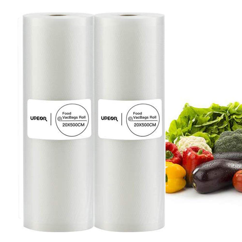 7''x16' Vacuum Sealer Rolls Bags 20x500CM Vacuum Sealer Bags Storage Bags for Food Saver by UPEOR