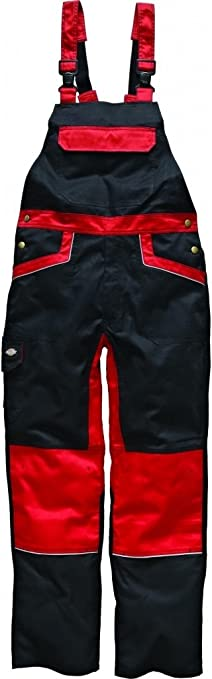 Dickies Industry 260 Workwear Overall Bib And Brace Dungaree Red IN4001