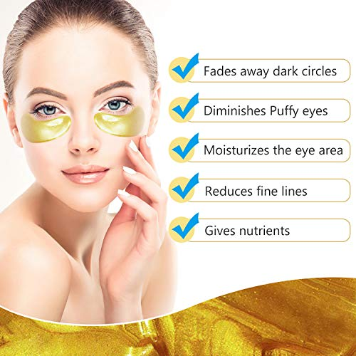 512iIDgm DL - 30 Pairs under eye patches, Summer Rainbow eye mask, Under Eye Bags Treatment, Dark Circles Under Eye Treatment, 24K Gold Eye Treatment Masks Anti-Aging for Reducing Dark Circles Puffiness Wrinkles.