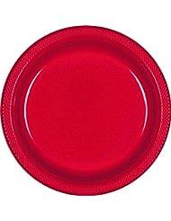 amscan apple red plastic plates 7u0027u0027 plastic plates