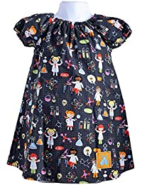 Baby and Toddler STEM Science Peasant Dress (12-18 Months)