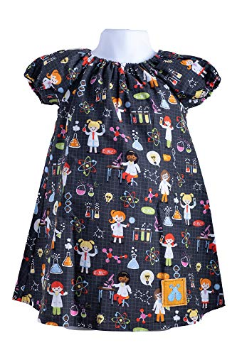 Bailey Bug Baby and Toddler STEM Science Peasant Dress (3T)