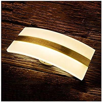 KERVINFENDRIYUN YY4 Lámpara de Pared lámpara de Pared de acrílico Simple Curvada led Escalera de Hotel Pasillo lámpara de Pared habitación de Hotel lámpara de Noche (Color : White Light): Amazon.es: Hogar