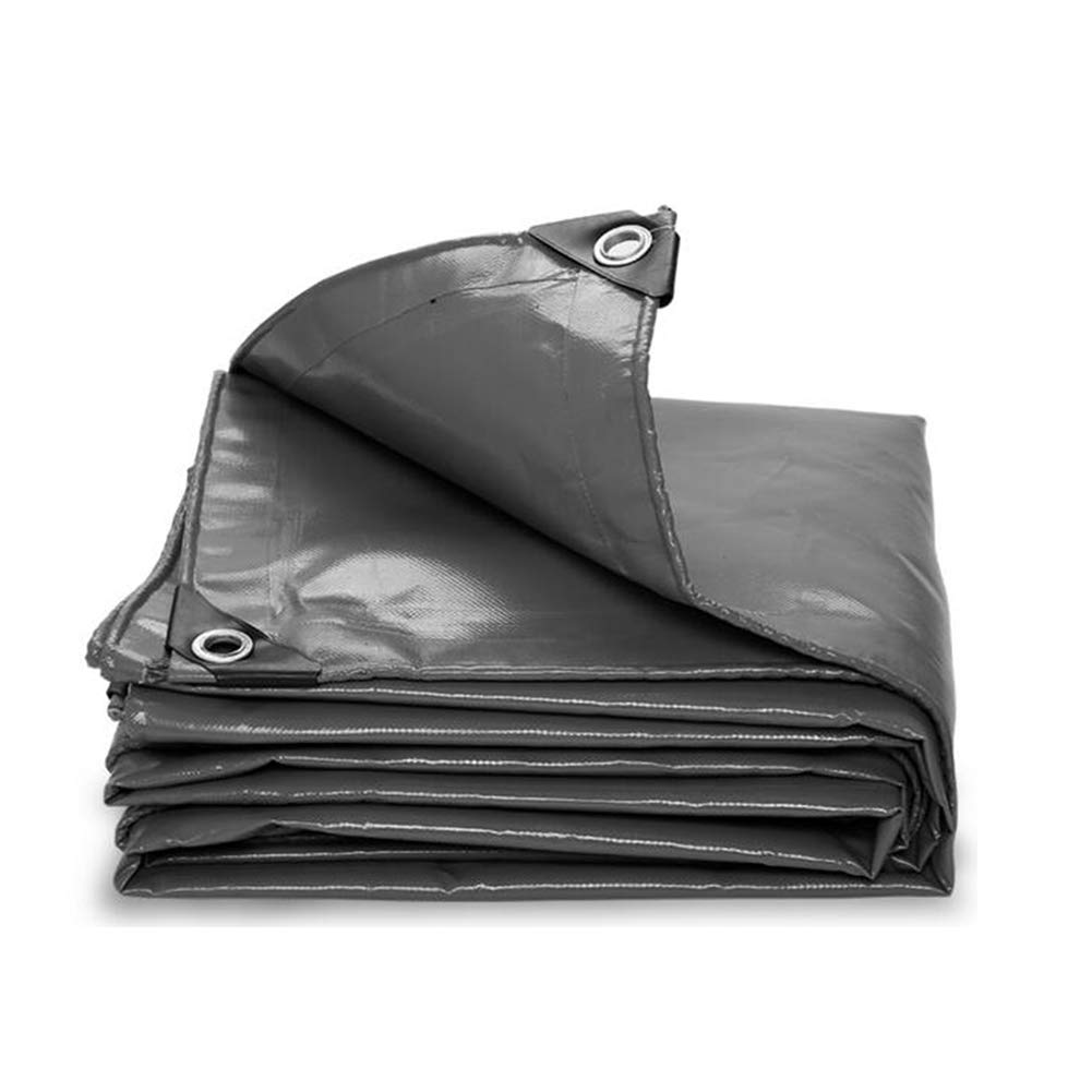 DALL ターポリン タープ オイルクロス 防水 絶縁 陰影保護 レインクロス キャノピー (色 : Gray, サイズ さいず : 2×4m) 2×4m Gray B07L4B4L49