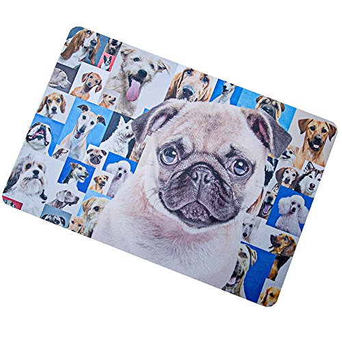 - Whom The Dog Barks Welcome Doormat Indoor Rug 16 x 24 inches,Durable Non-Slip