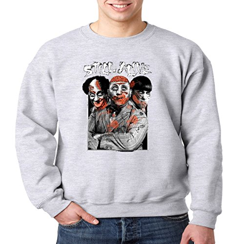 Juiceclouds | Mens Three Stooges Crewneck Sweatshirt Still Alive Zombie -