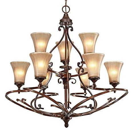 Amazon.com: dorado iluminación 4002 – 9 RSB – Lámpara de ...