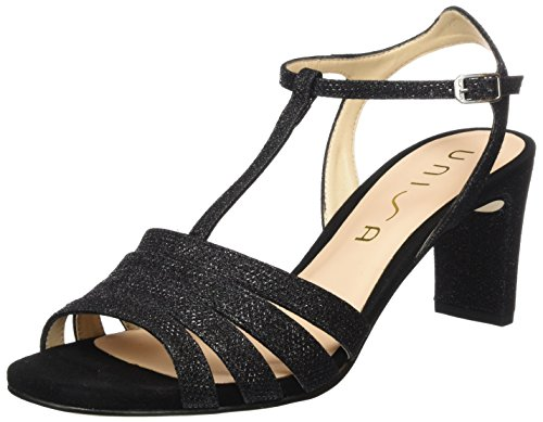 discount outlet locations Unisa Women's Marita_ev_ks Open Toe Sandals Black (Black Black) free shipping best sale myxpC