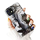 "Electronics : Dailylux for iPhone 11 Case,Cute Phone Case for Girls Women Glitter Pretty Protective Slim Shockproof Pearly-Lustre Shell Bumper Soft Silicone TPU Cover for iPhone 11 6.1"" 2019,Marble Black"