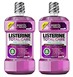 Listerine Total Care Anticavity Mouthwash, Fresh Mint, 1 Liter (Pack of 2)