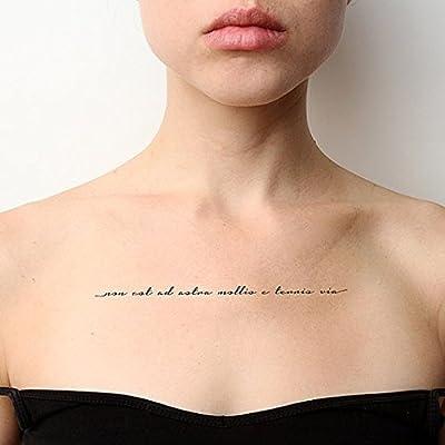 Tatuaje Temporal Tattify - Frase Latina Motivacional – Sin Límites ...