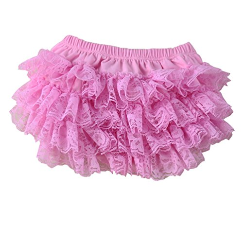 Wennikids Ruffled Lace Baby Diaper Bloomer Covers For 0-24M Small (Personalized Diaper Cover)