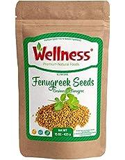 Organic Fenugreek Seeds Whole 15 oz 425 g Methi Seeds | Gluten Free & Non-GMO | Hair and Skin Health. Fenugreek Seeds | 15oz -425 g - Reseable Bag -Bulk