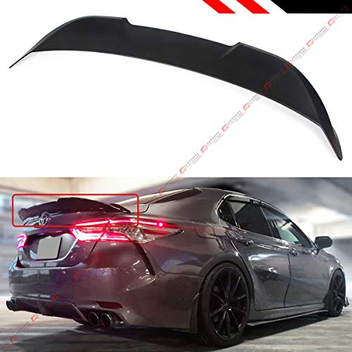 (Cuztom Tuning Fits for 2018 2019 Toyota Camry LE XLE SE XSE Hybrid TR Style Duckbill Rear Trunk Lid Spoiler Wing- Matt Black)