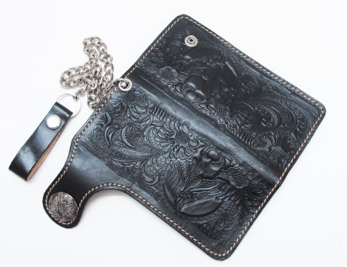 CLASSIC BLACK HORSE WITH SNAP CLOSES BIKER / TRUCKER CLUTCH - Al Shopping Mobile Mall