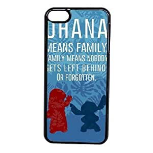 Custom made Case,Lilo and Stitch Cell Phone Case for iPod touch 6,Black Case With Screen Protector (Tempered Glass) Free S-7257062