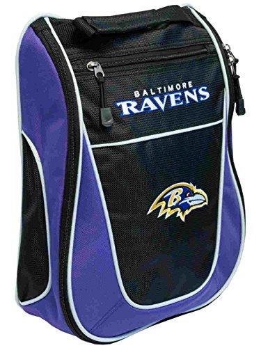 Baltimore Ravens Team Golf Black Purple Zippered Carry-On...