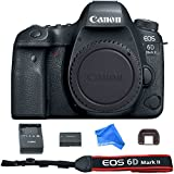 Canon EOS 6D Mark II Digital SLR Camera Body (Wi-Fi Enabled) + DigitalAndMore Ultra Gentle Microfiber DSLR Cleaning Cloth
