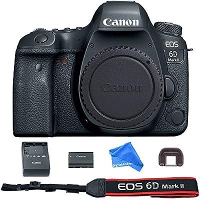 Canon EOS 6D Mark II Digital SLR Camera Body (Wi-Fi Enabled) + DigitalAndMore Ultra Gentle Microfiber DSLR Cleaning Cloth