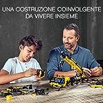 LEGO-Technic-Gru-Mobile-con-8-Ruote-Sterzanti-4-Stabilizzatori-a-Controllo-Individuale-2-Cabine-Braccio-Telescopico-Set-di-Costruzioni-per-Ragazzi-10-e-Appassionati-di-Modellismo-42108