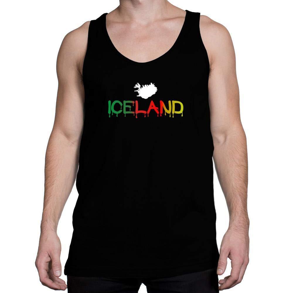 Idakoos Dripping Iceland Tank Top