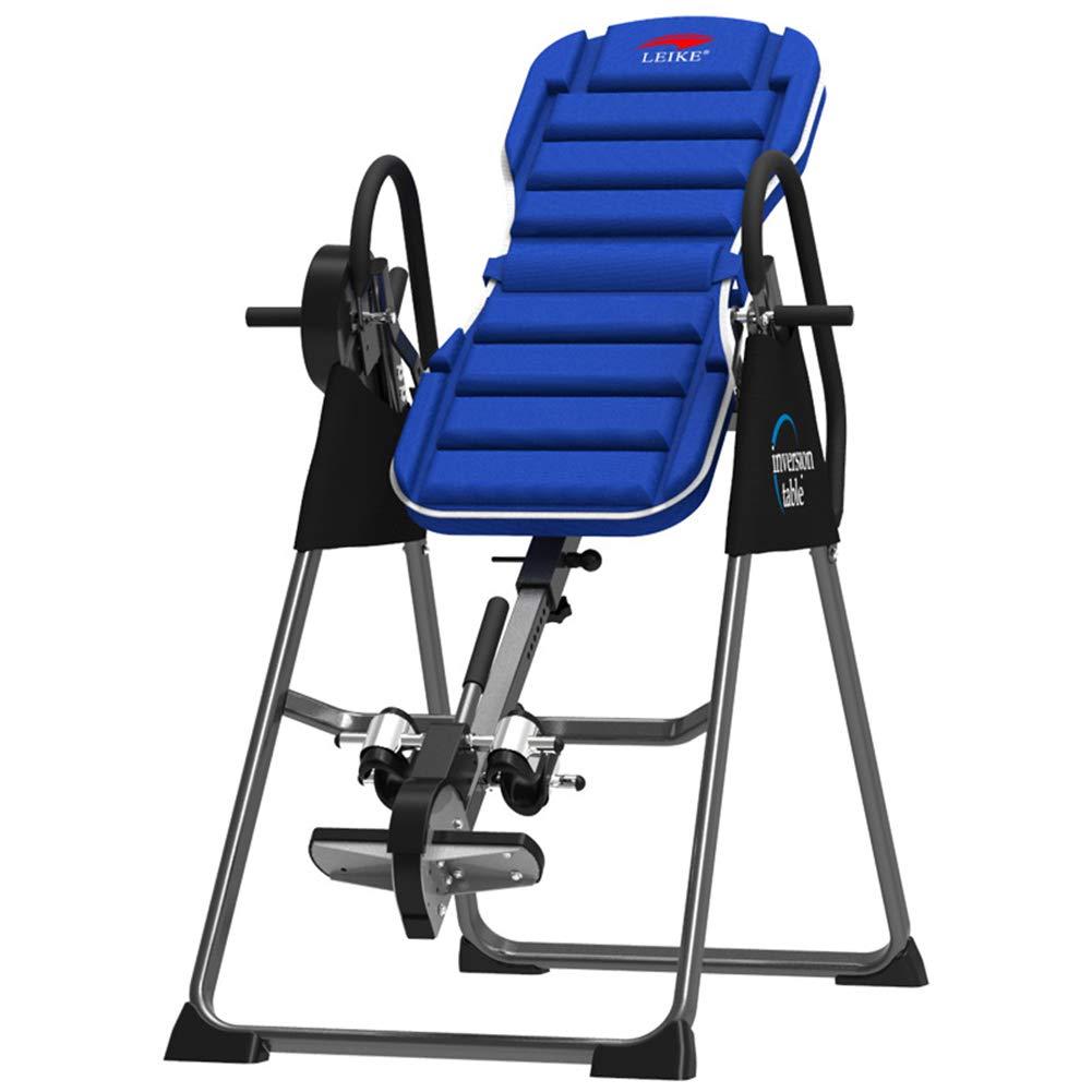 Inversion Table Falten Suspension Trainer Inversion Home Fitness Equipment Home Stretcher Cervical Stretch Blau Inverter