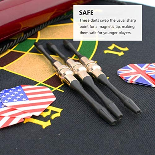 10pcs Universal Magnetic Dart British American Flag Pattern Dart Assorted Color