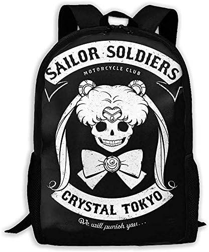 Hochleistungs-Unisex-Rucksack für Erwachsene Moon's Angels Bookbag Reisetasche Schultaschen Laptoptasche