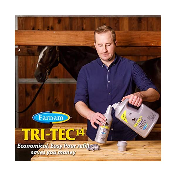 Farnam Tri-Tec 14 Fly Repellent Spray for Horses with Sunscreen 6
