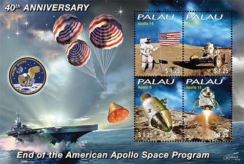 President John F. Kennedy / Apollo Space Program Collectors Stamps - Palau (Mint Space Stamps)