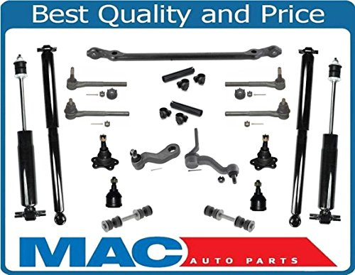 Pickup Center Link - 88-91 GM C1500 2 Wheel Drive Pick Up Center Link Tie Rods Idler Pit Shocks 17Pc