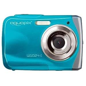 """Easypix Aquapix W1024-I - Cámara compacta digital de 10 Mp (pantalla de 2.4"""", zoom digital 4x, VGA), azul [importado]"""