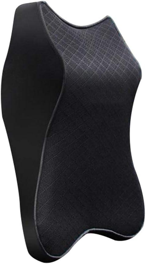 Bolana para asiento de coche con reposacabezas y almohada de espuma viscoelástica 3D suave y transpirable
