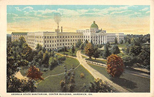 hardwick-georgia-sanitarium-birdseye-view-antique-postcard-k18858