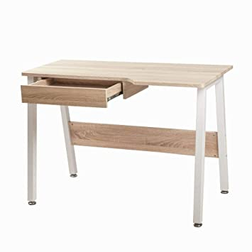 Excellent Julyfox Writing Desk With Drawers Solid Wood And Metal Download Free Architecture Designs Scobabritishbridgeorg