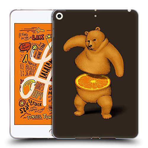 Official Tobe Fonseca Orange Bears Soft Gel Case Compatible for iPad Mini (2019)