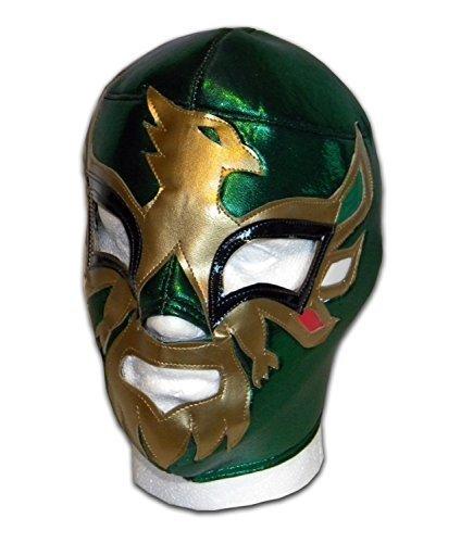 WRESTLING MASKS UK Men's Mexicano Wrestling Luchador Lucha Libre Mask One Size Green