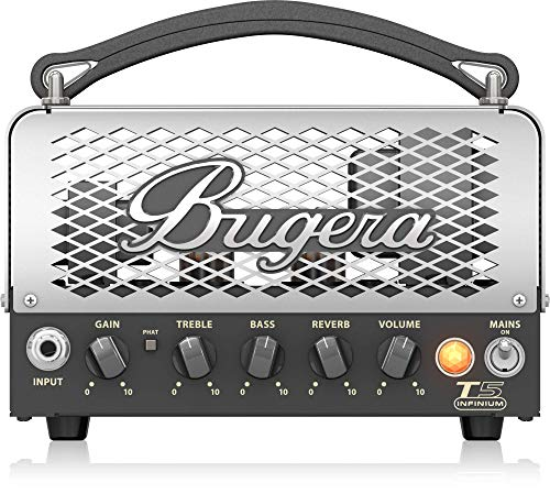(BUGERA T5 5-Watt Cage-Style Amplifier Head with Infinium Tube Life Multiplier and Reverb Multi Colored (T5INFINIUM))