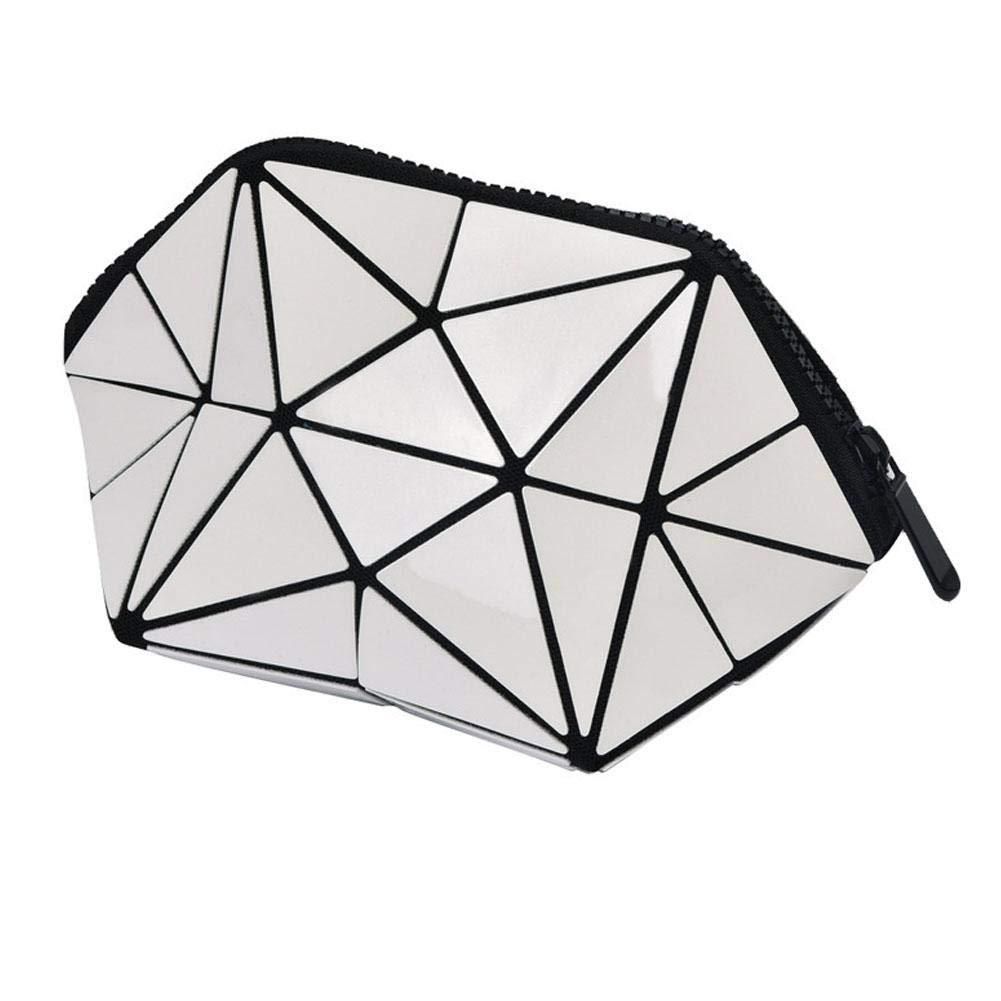 asimmetrico semi-circular makeup bag, grande capacità Lazy trousse make-up Pouches Portable Travel Storage Bag per donne ragazze Ljourney