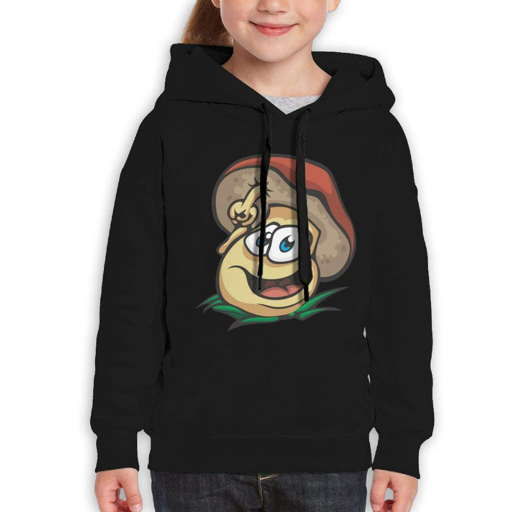 Qiop Nee Cartoon Happy Toadstool Kids Hooded Print Long Sleeve Sweatshirt Girls'