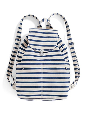 BAGGU Canvas Backpack - Sailor Stripe