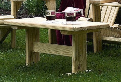 Furniture Barn USA Pressure Treated Pine Outdoor Coffee Table Amish Made USA - Golden Oak Stain