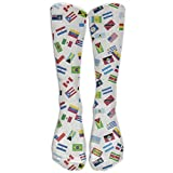 Colorful National Flags Element Long Dress Socks Football Sports Socks Casual Over-the-Calf Tube
